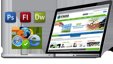 Brochure style website design