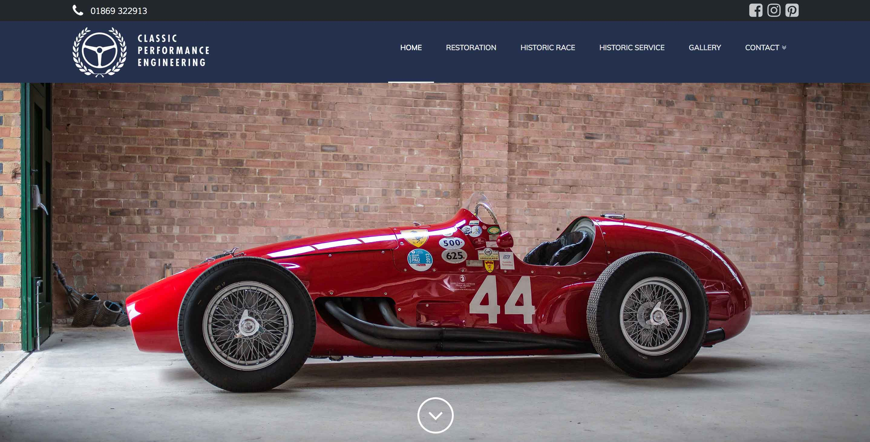 classic performance engineering website screenshot