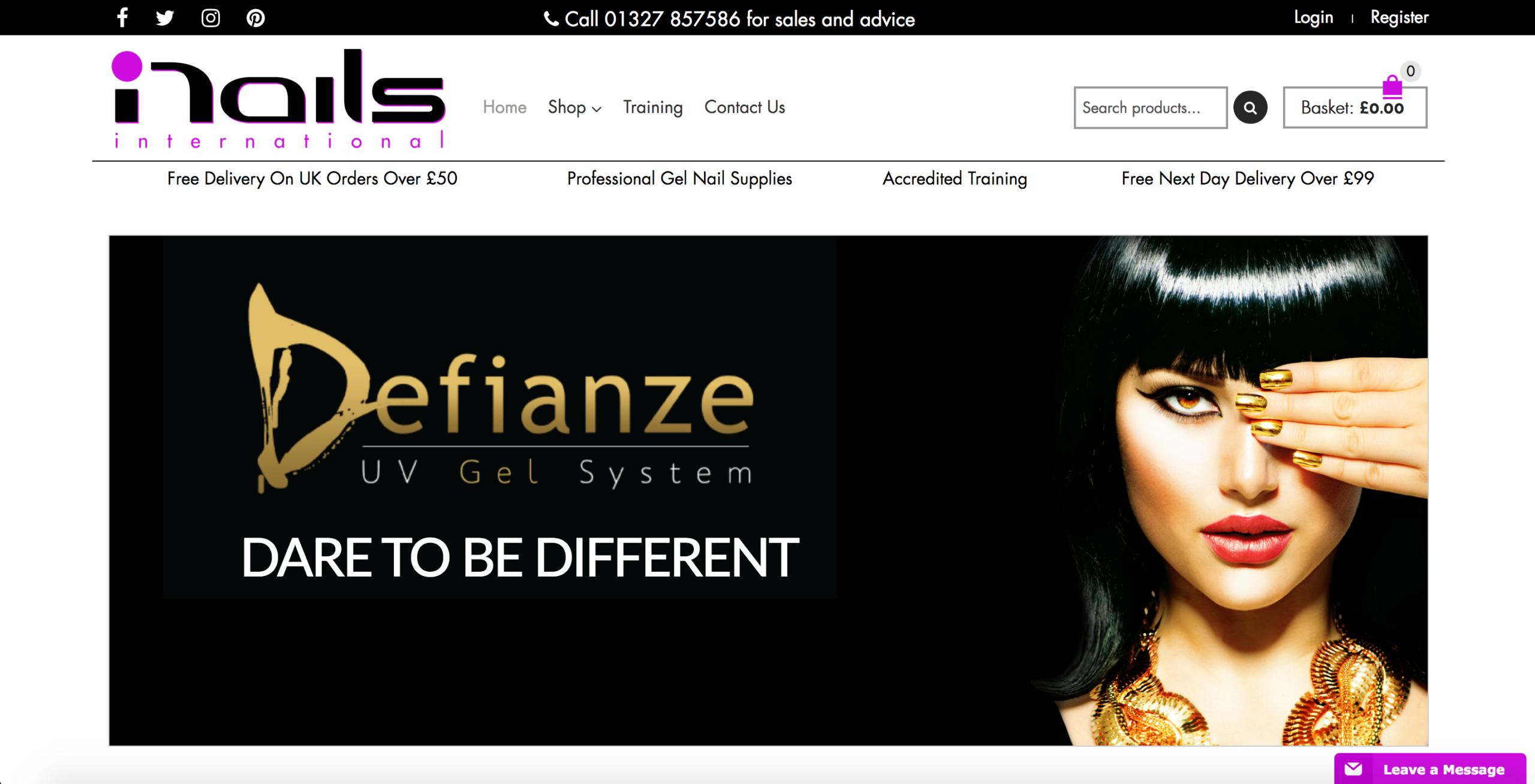 nailsinternational website screenshot