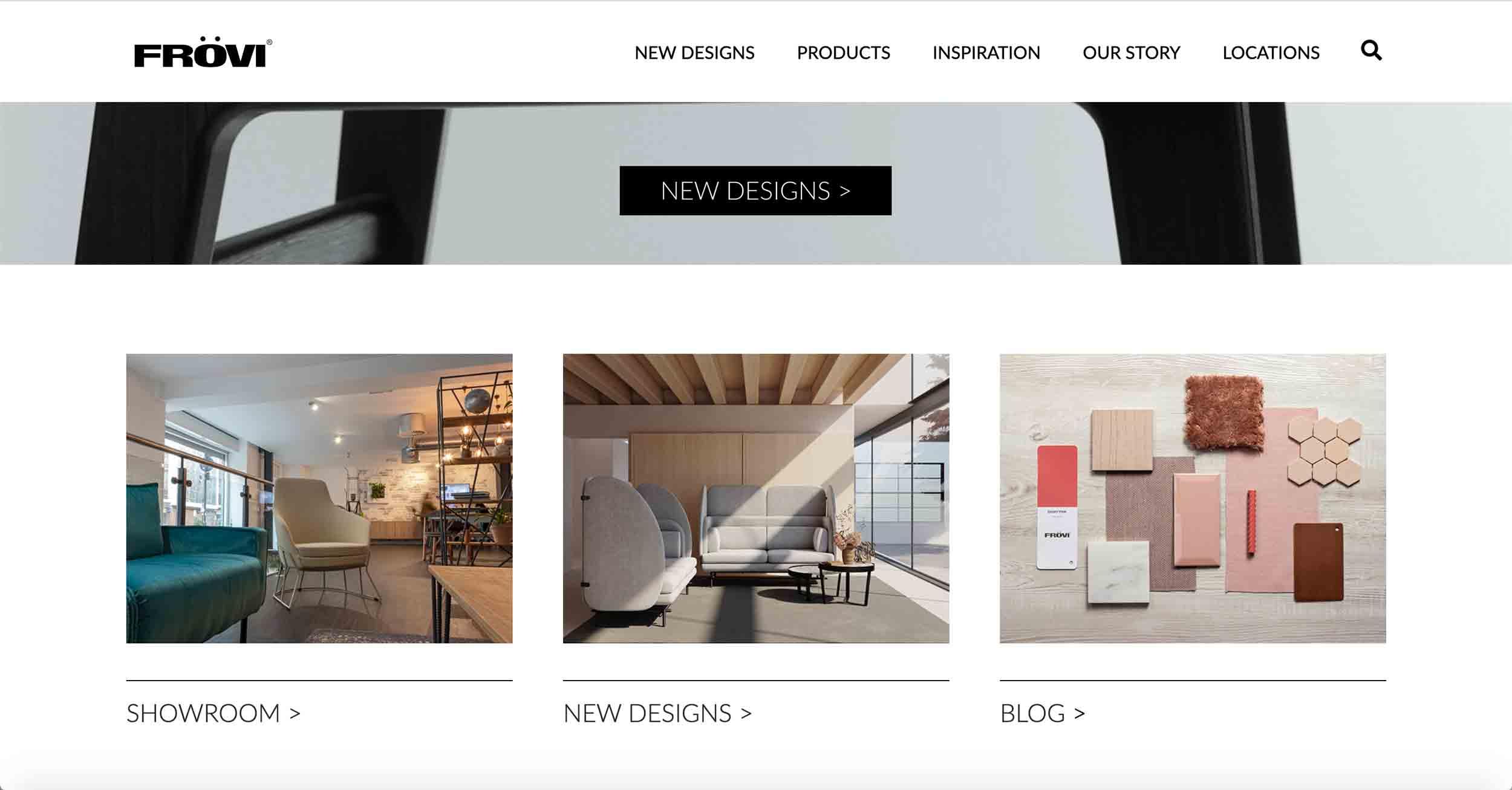 frovi website developement homepage content design