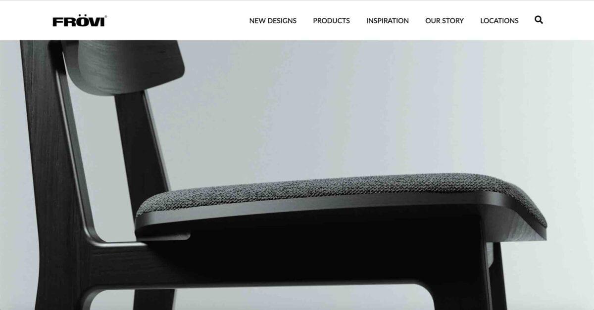 Frövi Website Development - Homepage Header Design