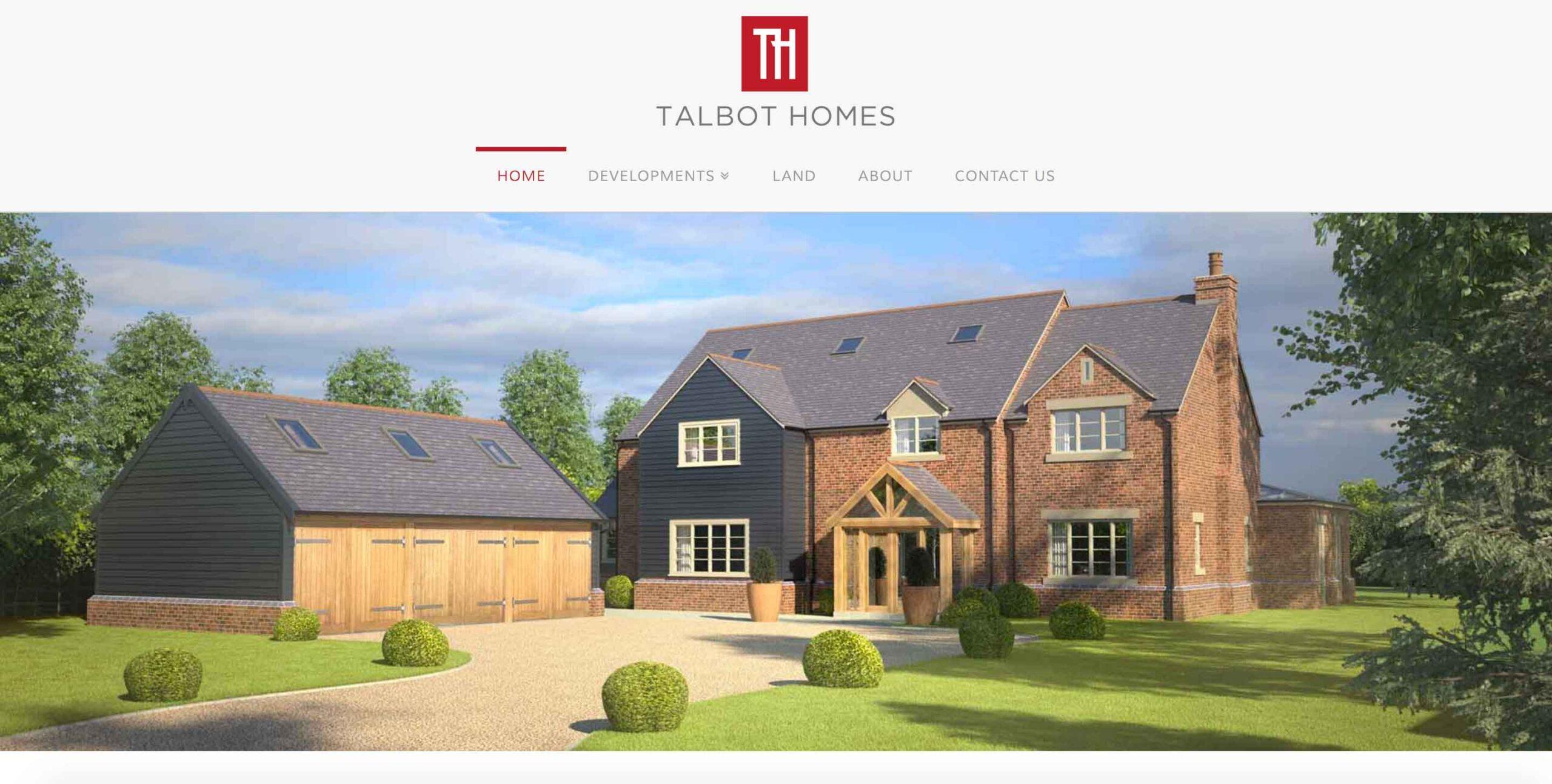 talbot homes website screenshot scaled