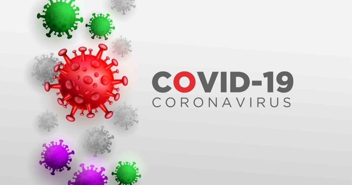Covid Corona Virus in Real 3D Illustration concept